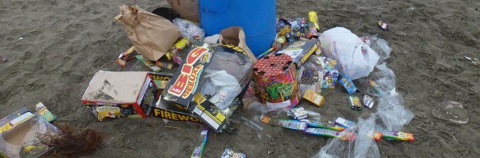 firework trash