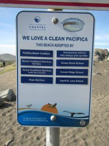 adopt a beach actual signage
