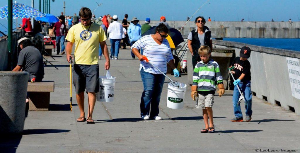 Sharp Park pier cleanup