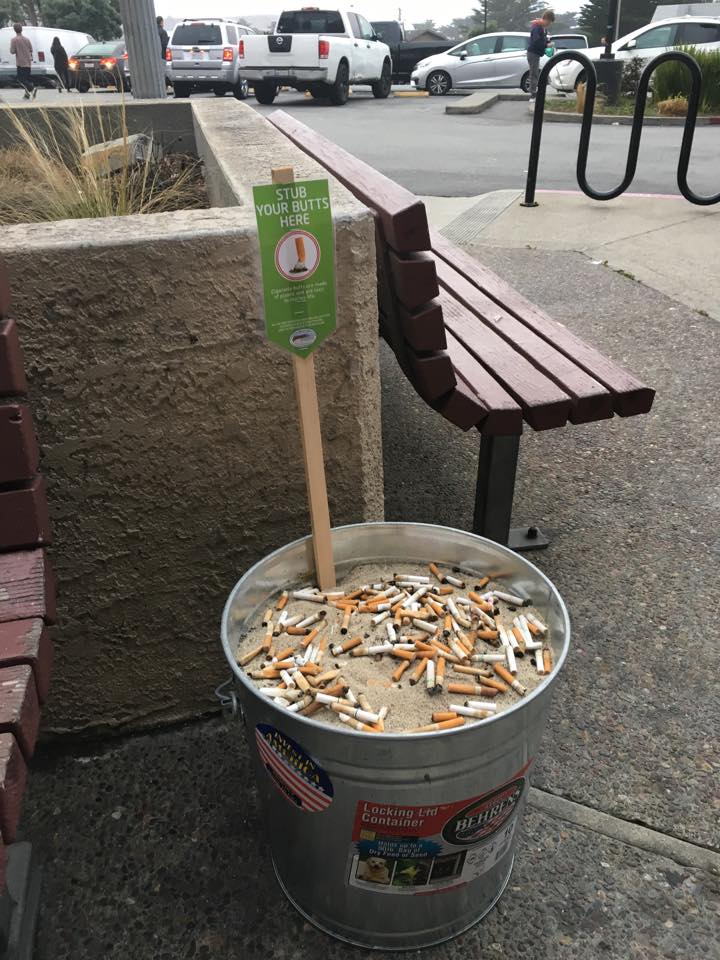 cigarette butt bucket