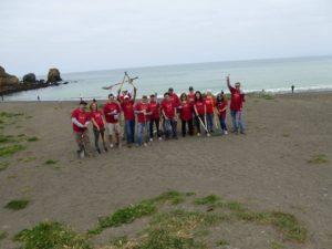 B of A beach cleanup